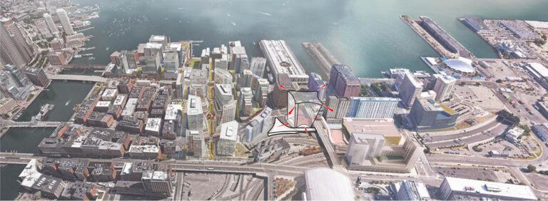 Sasaki Releases Designs for a Development in Boston's Seaport District